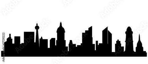 skyline stadt umriss stockfotos und lizenzfreie vektoren auf bild 27210222. Black Bedroom Furniture Sets. Home Design Ideas