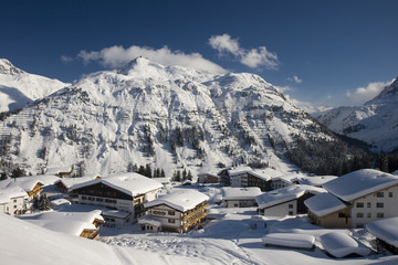 Wall Mural - Winter at Arlberg Mountains, Lech