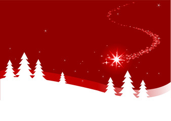 Christmas background  with shutting star