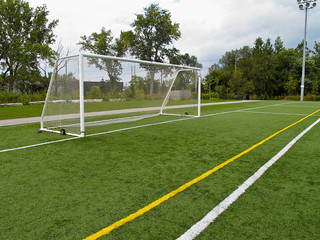 Soccer Net and Goalposts