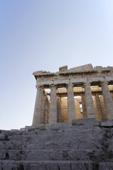 The Parthenon in the Ancient ruins of the Acropolis