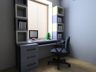 New Year tree on a desktop