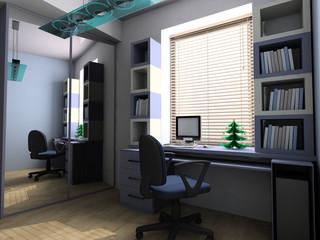 New Year tree on a desktop