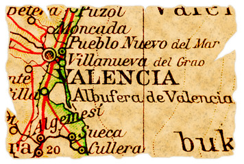 Valencia old map