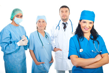 Surgeon woman and her team