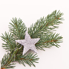 Christmas tree with star