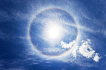 circular rainbow around sun