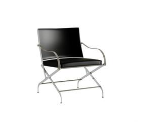 Black office armchair isolated