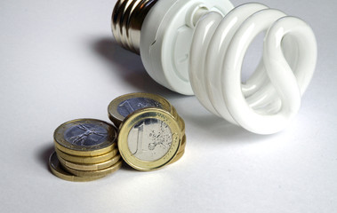 Energiesparlampe mit Geld I