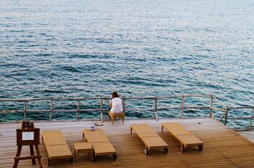 private beach, a view from a beach terrace