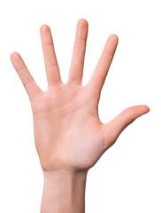 Hand mit gespreizten Fingern