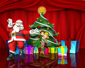 santa and the elves helpers good time
