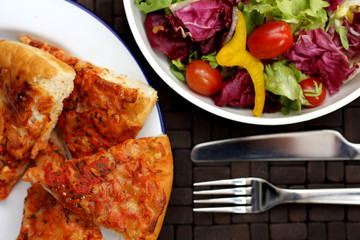 Cheese and Tomato Pizza Slices