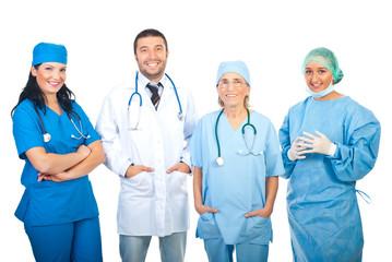 Happy hospital doctors