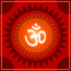 Spiritual Om Design Background