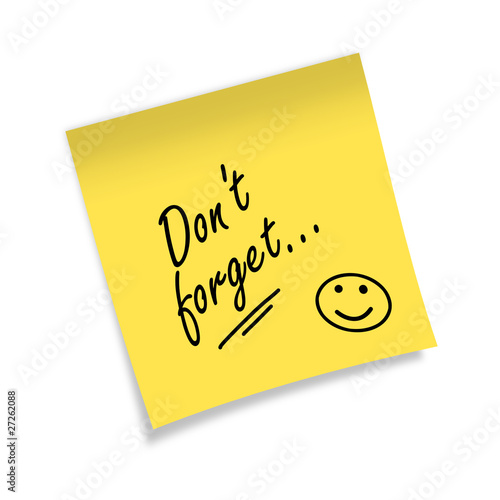 Quot Post It Don T Forget Quot Stock Photo And Royalty Free