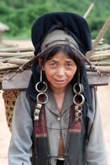 Portrait Frau Akha in Laos