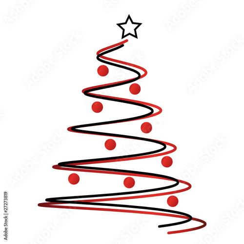 Tannenbaum mit kugeln abstrakt stockfotos und lizenzfreie vektoren auf bild 27273819 - Weihnachtsbaum modern ...