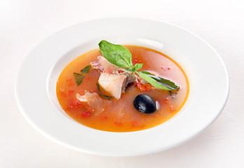 Fish soup vith vegetable