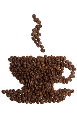 Cup shape coffee beans.