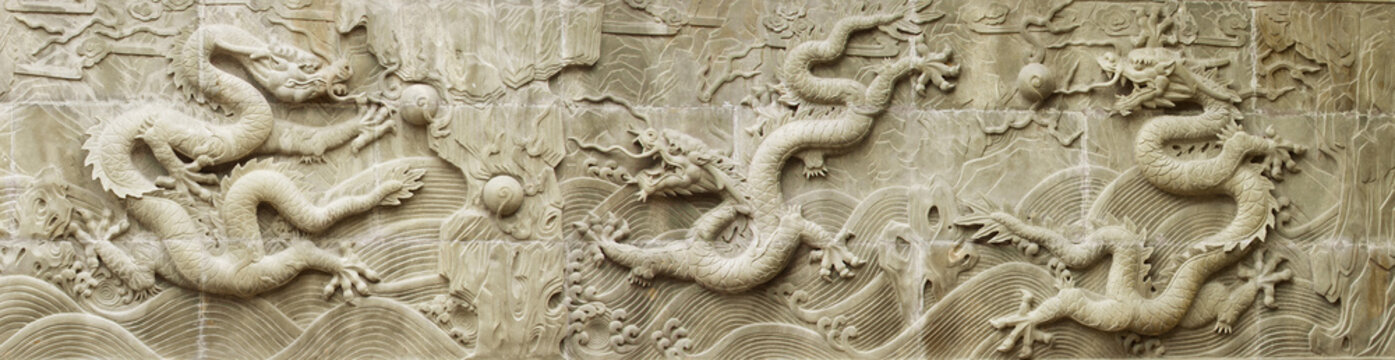 chinese dragon's relief