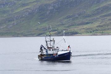 Bâteau de pêcheurs en Écosse