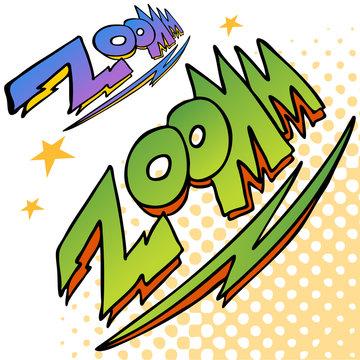 Zoom Bolt Sound Text