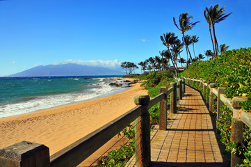 Wailea Beach Walkway, Maui Hawaii