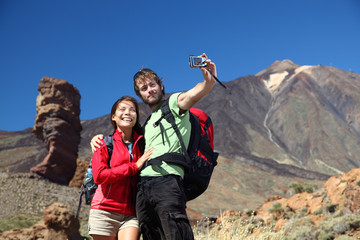 Couple taking picture on holidays