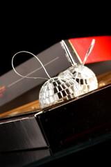 silver balls in the box