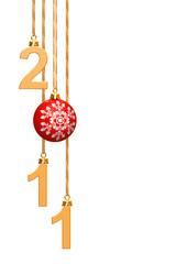 Il nuovo anno 2011 con pallina di Natale