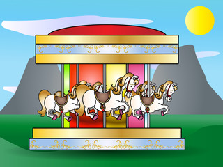 merry go round illustration