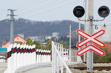 Железная дорога.Железнодорожный переезд.
