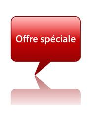 Icône Bulle OFFRE SPECIALE (vente offre spéciale prix shopping)