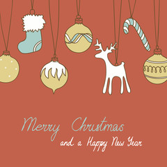 Merry Christmas and New Year's card