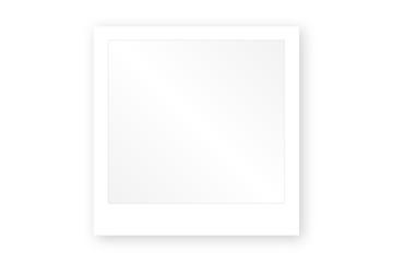 Photo polaroid avec reflet