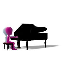 Klavier spielen Duett Icon