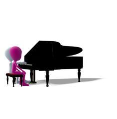 Klavierunterricht Schüler Lehrer Logo