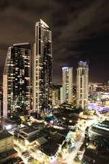 Gold Coast by night in Queensland, Australia