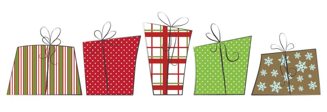 Sketchy Christmas Gift Boxes