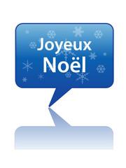 Icône Bulle JOYEUX NOEL (noël père carte de voeux sapin cadeau)