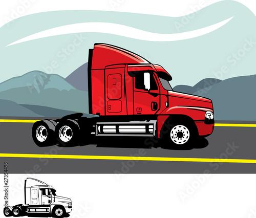 """""""Trailer truck"""" Imágenes de archivo y vectores libres de ..."""