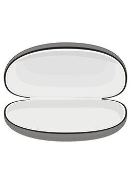 Vector sunglasses case on white background