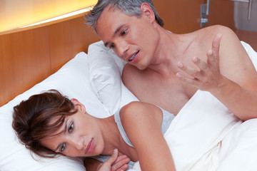 Couple Fights in Bed