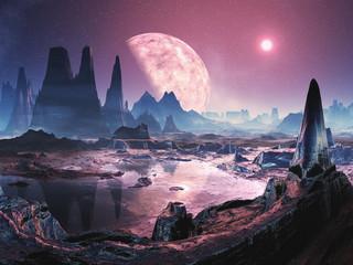 Unihabited Alien Planet