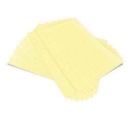 Cuadernos con hojas de color amarillo