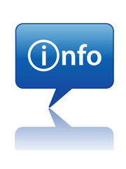INFO Speech Bubble Icon (information sign button find out more )