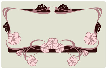 vector floral border in vintage style