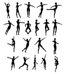 Silhouette Donna che Danza