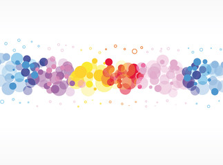 abstract bokeh background with circles
